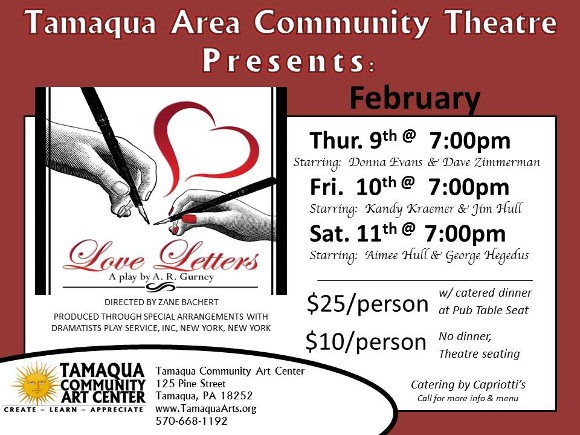 Love Letters A Play By AR Gurney Tamaqua Community