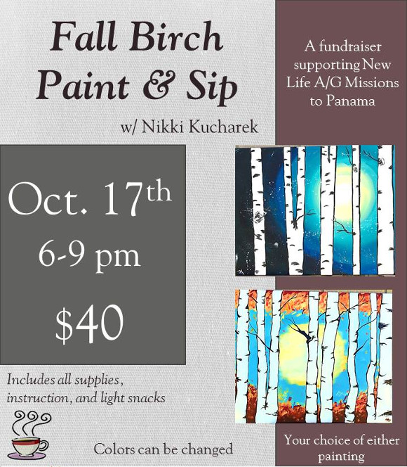 Fall Birch - Paint & Sip