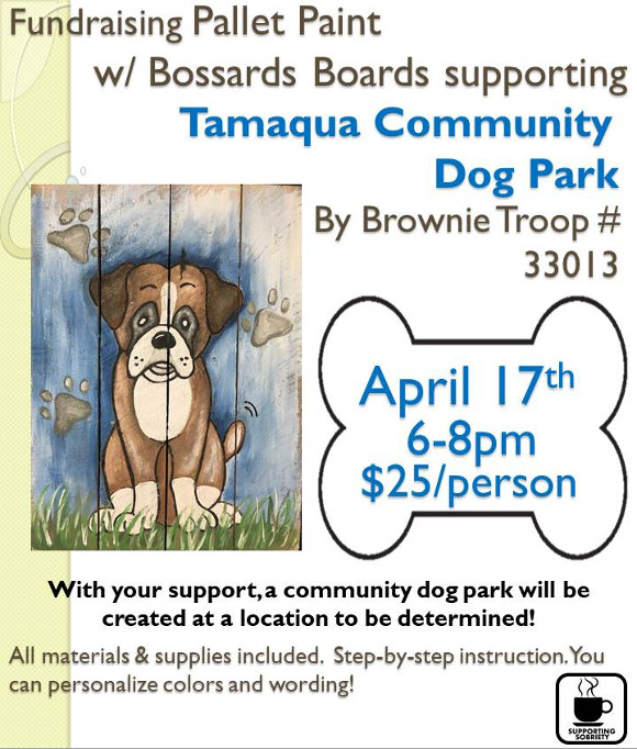 Pallet Paint Fundraiser for Dog Park