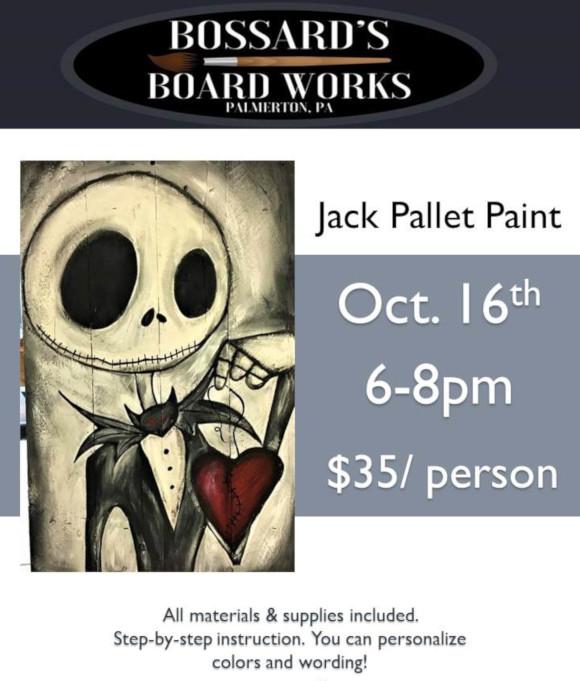 Pallet Paint: Jack Skellington