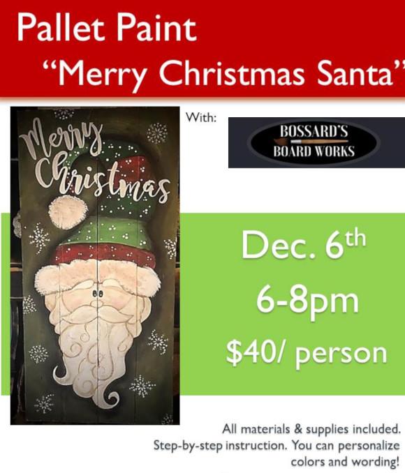 Pallet Paint: Merry Christmas Santa