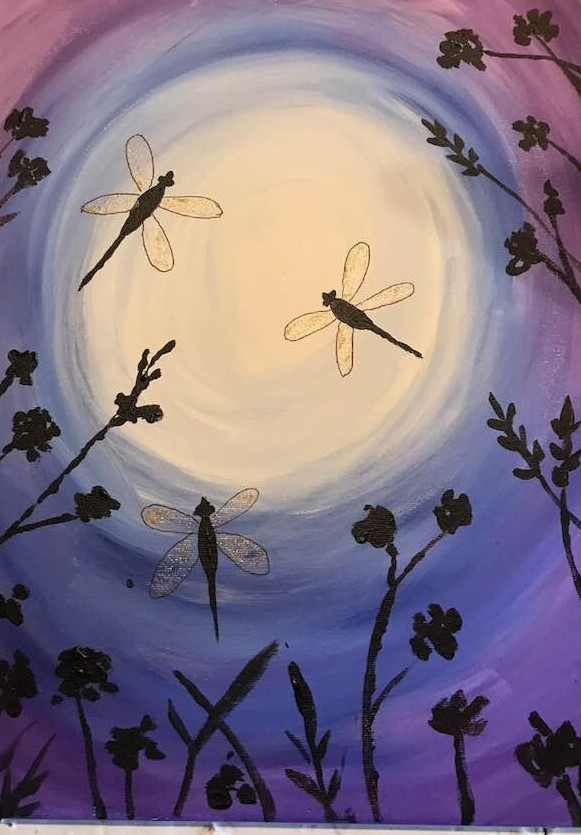 Paint with Paula - Fireflies