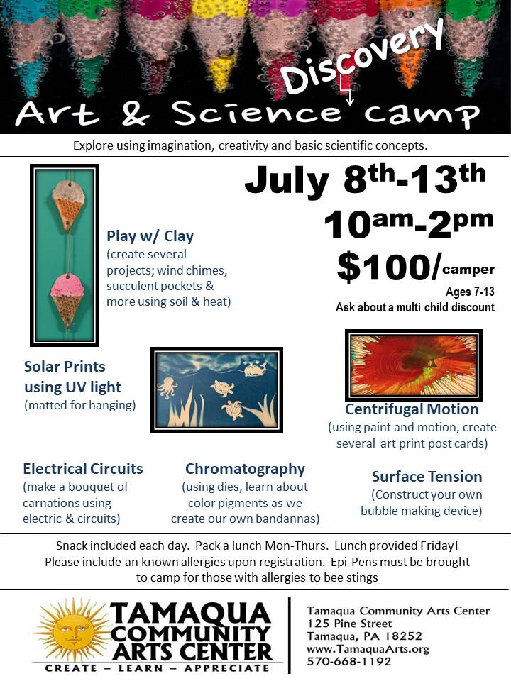 Art & Science Discovery Camp