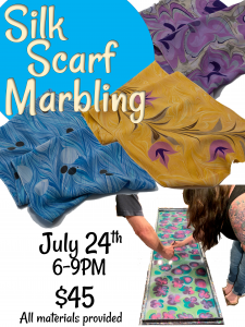 Silk Scarf Marbling @ Tamaqua Community Arts Center | Tamaqua | Pennsylvania | United States