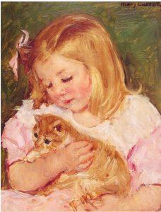 Paint Like Cassatt - Sarah Holding A Cat