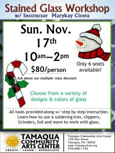 Stained Glass Workshop - Winter Holidays