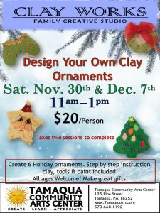 Clay Works Studio: Holiday Ornaments