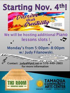Piano Lessons with Judy @ Tiki Room Rehearsal Studio | Tamaqua | Pennsylvania | United States