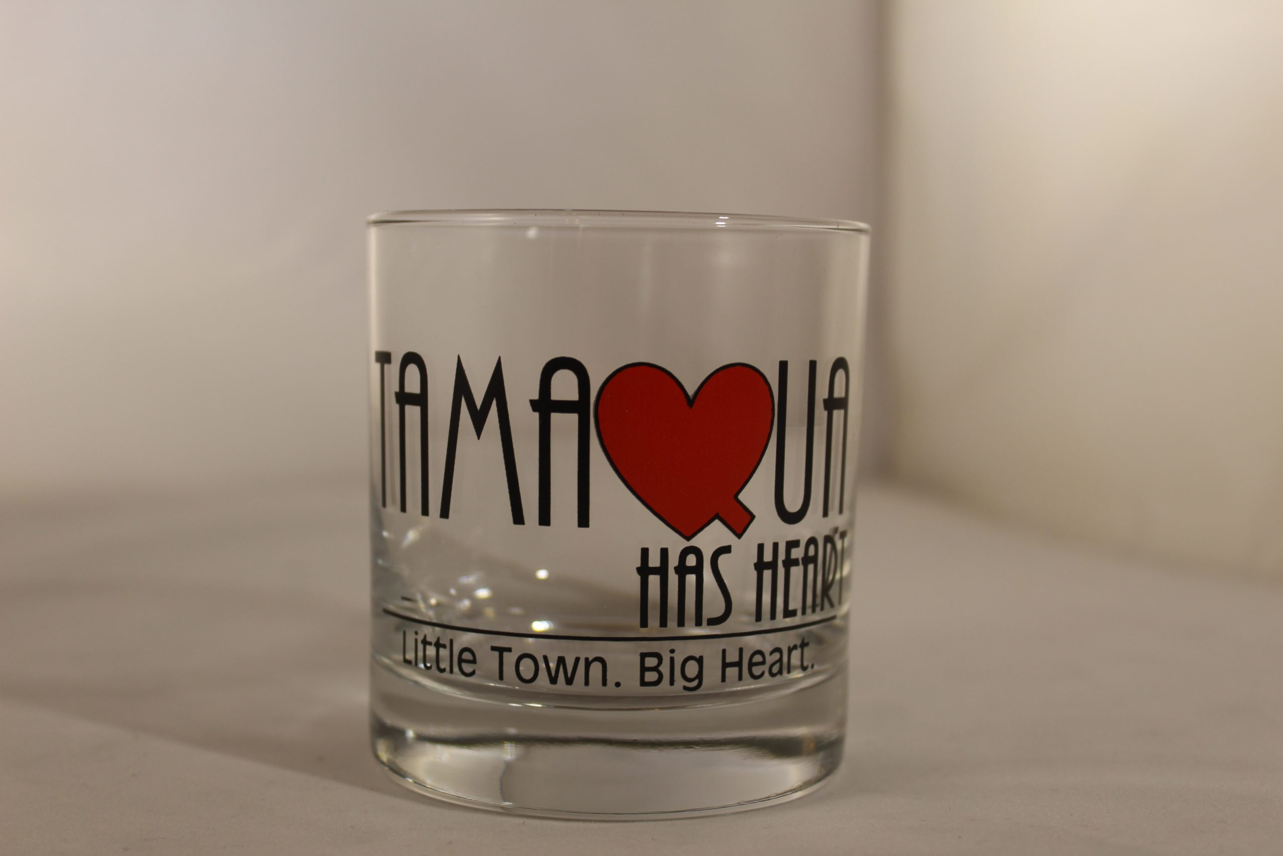 Tamaqua Has Heart Rocks Glass
